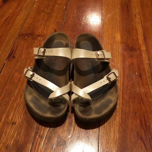ec3108a3ae5 Birkenstock Shoes - Birkenstock Mayari Birko-Flor in Grace Pearl White